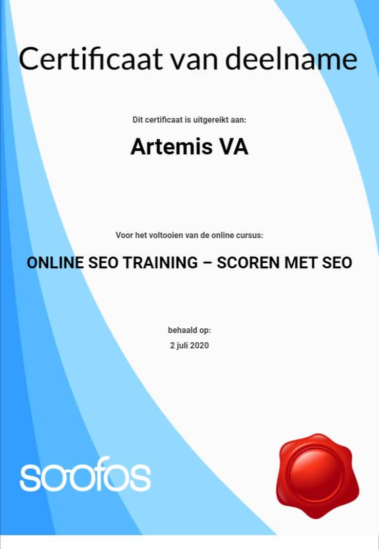 Cursus Seo Marketing Artemis Va